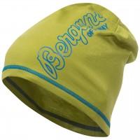 Bergans Bloom Wool Beanie - Lime/Lt SeaBlue, Onesize