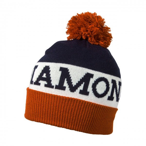 Black Diamond Tom Pom Beanie - Captain-White-Rust, Onesize