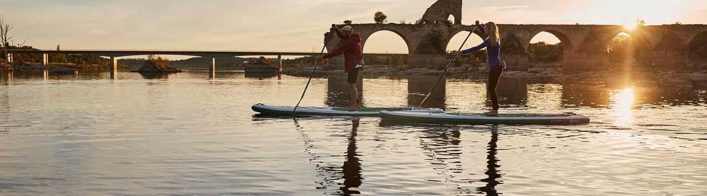 Auf Entdeckungstour mit dem Red Paddle SUP Voyageur