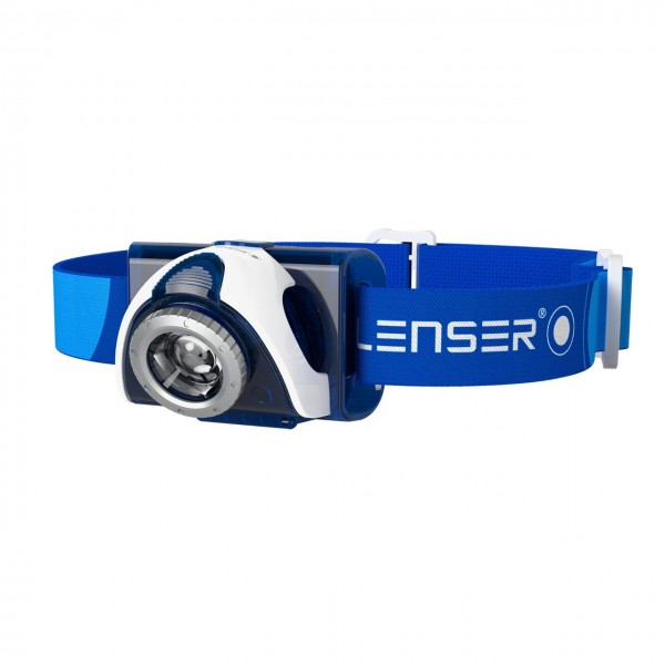 LED Lenser SEO7R aufladbare Stirnlampe - Blau