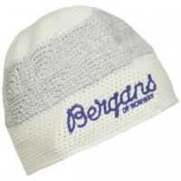 Bergans Tryvann Beanie - White / Funky Purple, Onesize