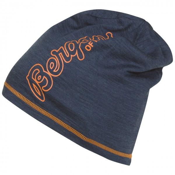 Bergans Bloom Wool Beanie - Navy Melange / Pumpkin, Onesize