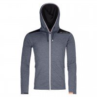 Ortovox Merinoterry Hoody  - Black Steel Blend, M