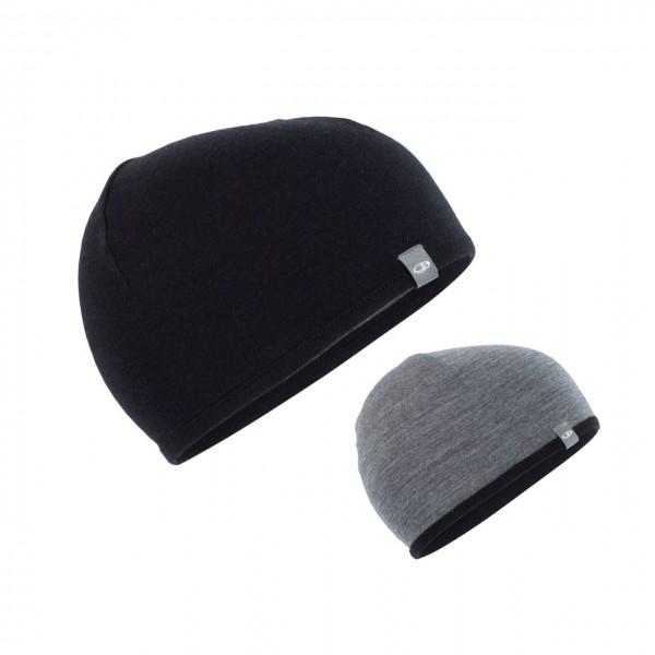Icebreaker Pocket Hat - Black/Gritstone HTHR