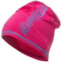 Bergans Bloom Wool Beanie - Hot Pink/Br SeaBlue, Onesize
