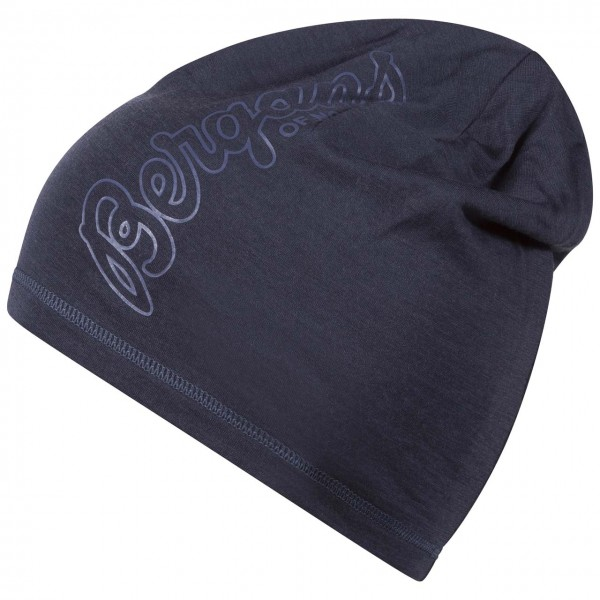 Bergans Bloom Wool Beanie - Night Blue / Dusty Blue, Onesize